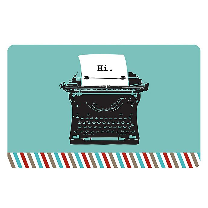 Alternate image 1 for The Softer Side by Weather Guard™ 18-Inch x 27-Inch Retro Typewriter Kitchen Mat