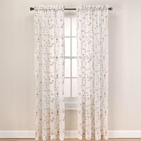 Buy Caspia 63 Inch Rod Pocket Sheer Window Curtain Panel