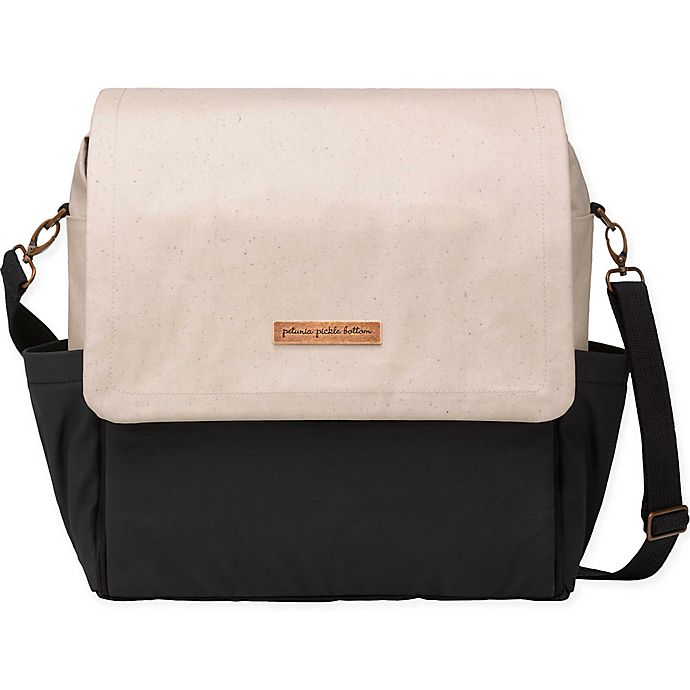 Alternate image 1 for Petunia Pickle Bottom® Boxy Backpack Diaper Bag in Birch/Black