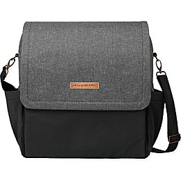 Petunia Pickle Bottom® Boxy Backpack Diaper Bag in Graphite/Black