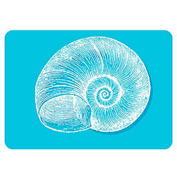 The Softer Side by Weather Guard™ Snail Kitchen Mat in Turquoise