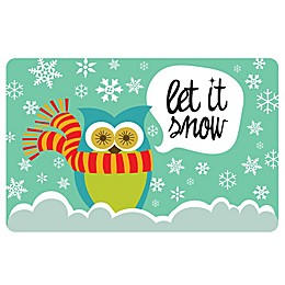 The Softer Side by Weather Guard™ Let It Snow Owls Kitchen Mat