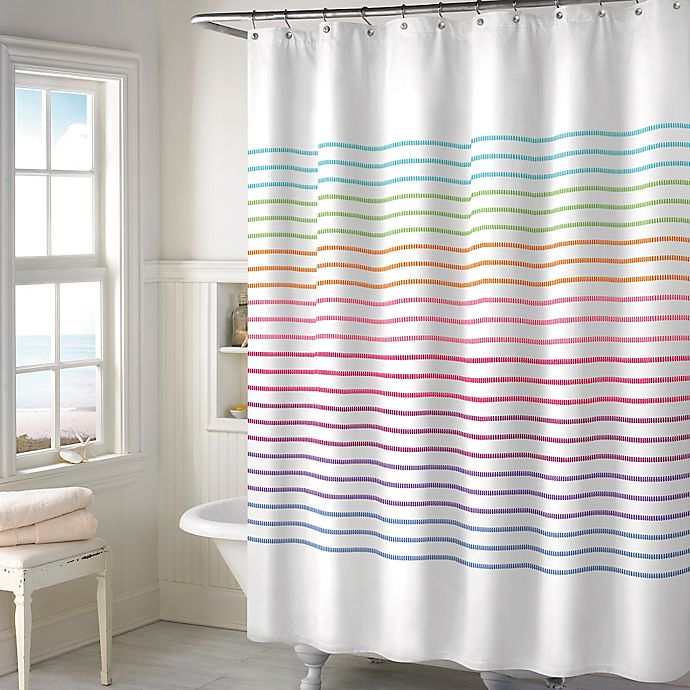 Alternate image 1 for Color Stitch Shower Curtain