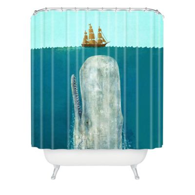 Deny Designs Terry Fan The Whale Shower Curtain