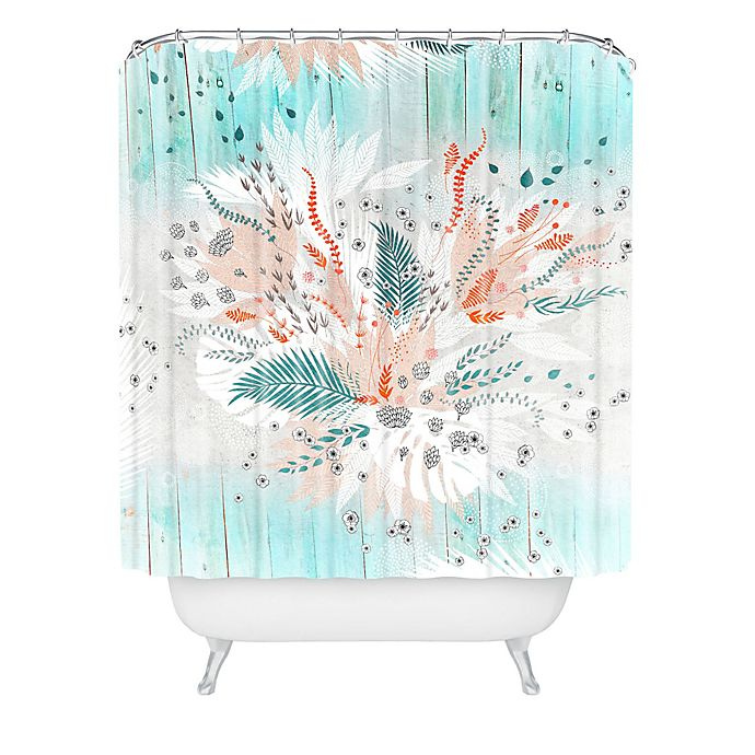 Alternate image 1 for Deny Designs Iveta Abolina Tropical Teal Shower Curtain