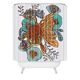 Deny Designs Valentina Ramos Little Fish Shower Curtain in Orange