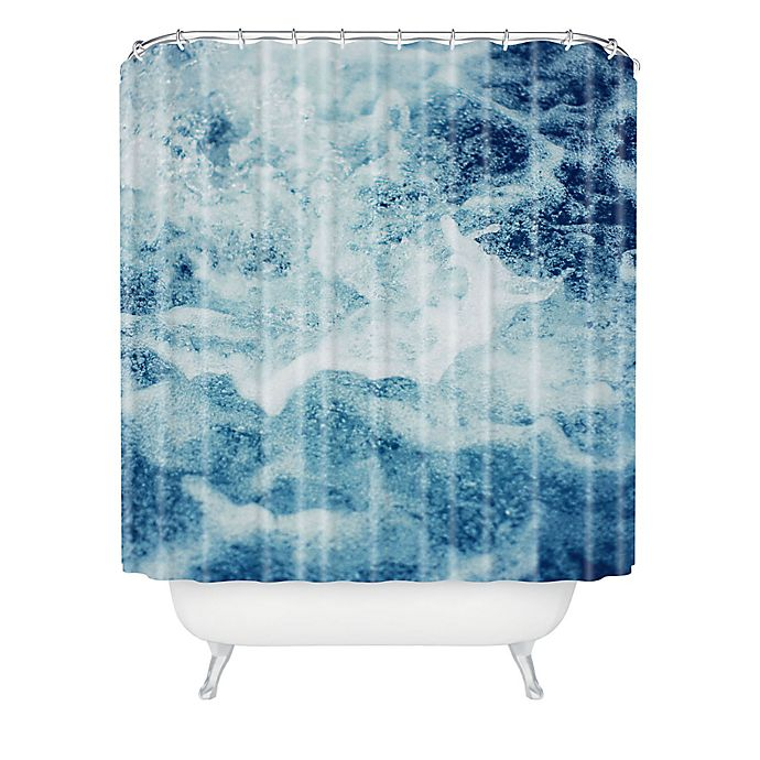 Alternate image 1 for Deny Designs Leah Flores Sea Shower Curtain in Blue