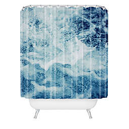 Deny Designs Leah Flores Sea Shower Curtain in Blue