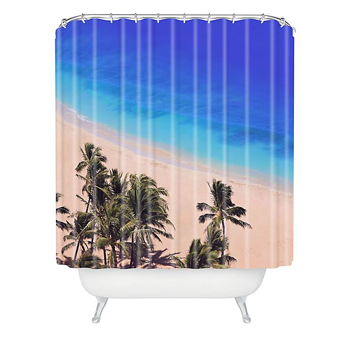 Alternate image 1 for Deny Designs Leah Flores Hawaii Beach Shower Curtain in Blue