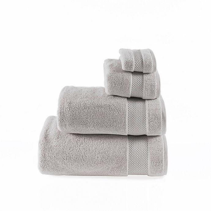 Alternate image 1 for Valeron Oversized Luxury Washcloth in Silver