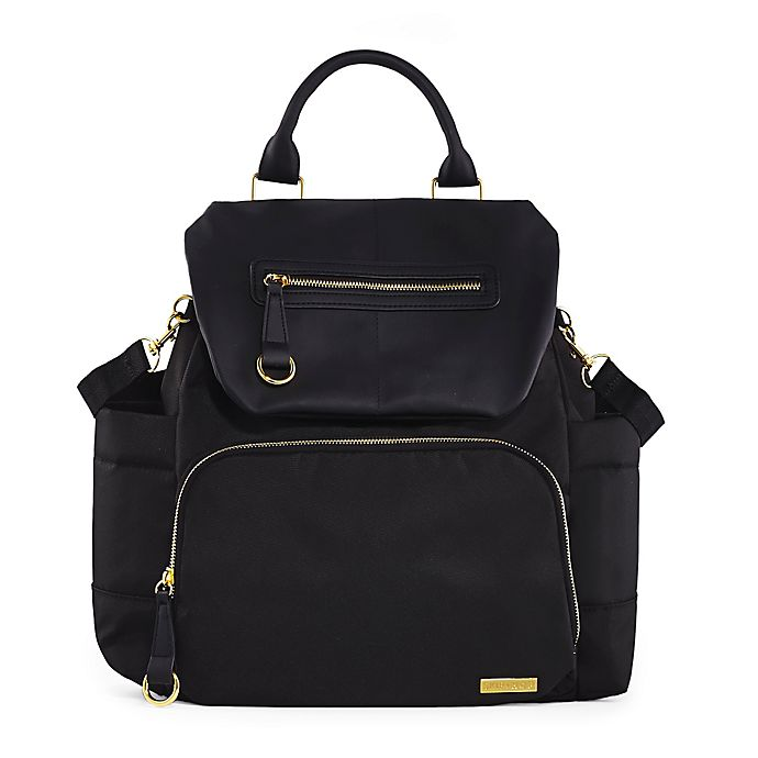 Alternate image 1 for SKIP*HOP® Chelsea Downtown Chic Diaper Backpack in Black