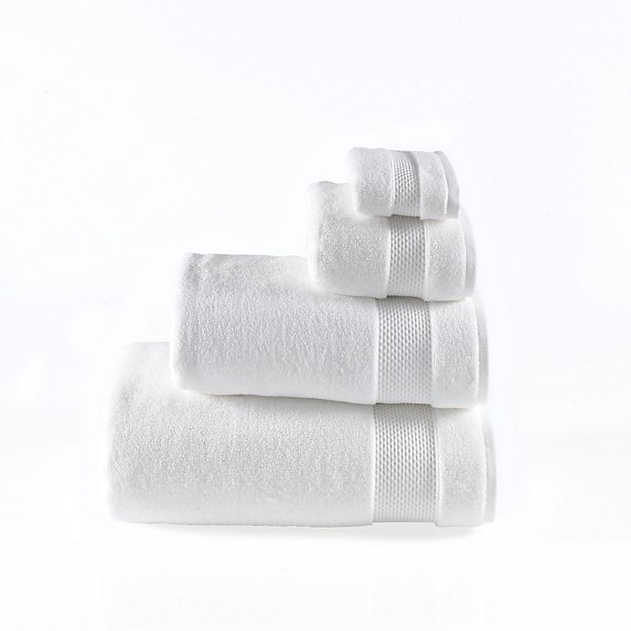 Alternate image 1 for Valeron Oversized Luxury Washcloth in White