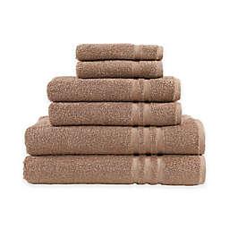 Linum Home Textiles Denzi 6-Piece Towel Set in Latte