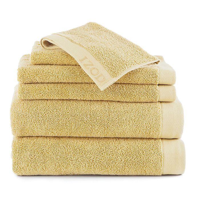 Alternate image 1 for IZOD® Classic Cotton 6-Piece Towel Set in Lemon