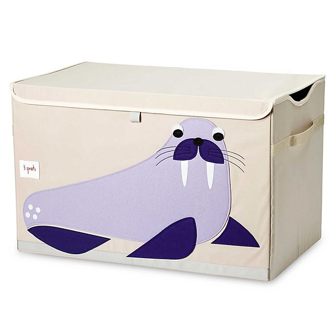 Alternate image 1 for 3 Sprouts Walrus Toy Chest