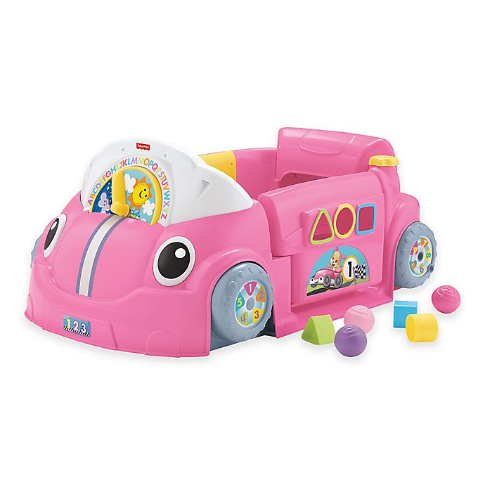 Alternate image 1 for Fisher-Price® Laugh & Learn™ Crawl Around™ Car in Pink