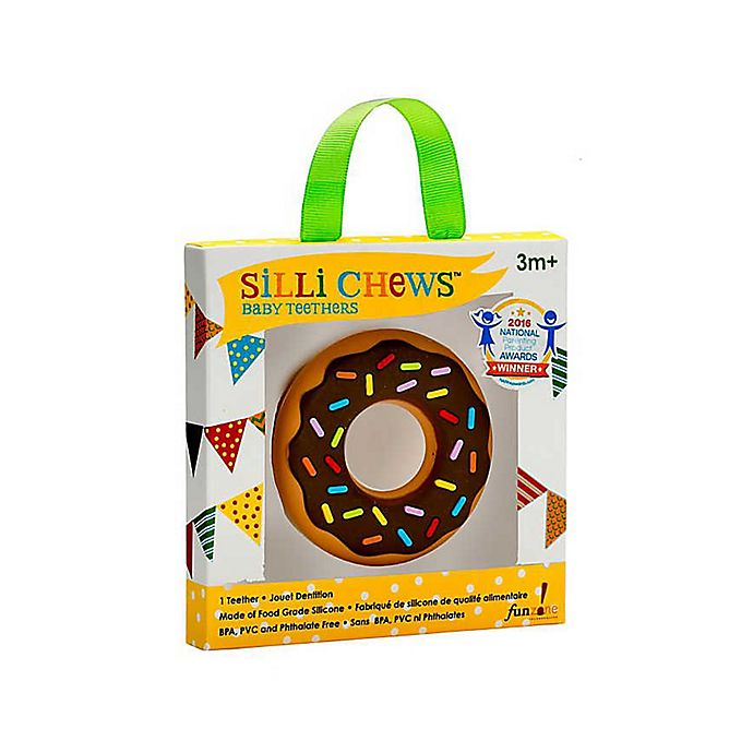 Alternate image 1 for Silli Chews Chocolate Donut Teether Toy