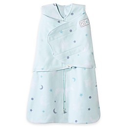 HALO® SleepSack® Stars Multi-Way Adjustable Fleece Swaddle in Mint
