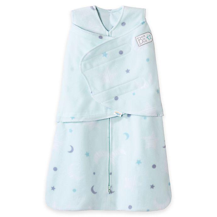 Alternate image 1 for HALO® SleepSack® Stars Multi-Way Adjustable Fleece Swaddle in Mint