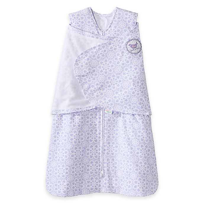 Alternate image 1 for HALO® SleepSack® Lilac Lace Multi-Way Adjustable Swaddle