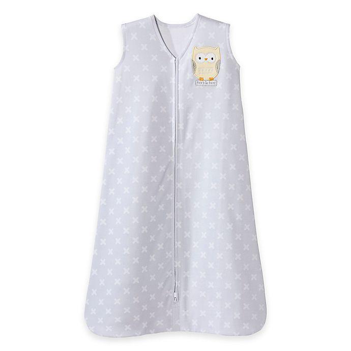 Alternate image 1 for HALO® SleepSack® Owl Wearable Blanket in Yellow/Grey