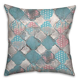 Cotton Candy Square Throw Pillow in Pink/Blue