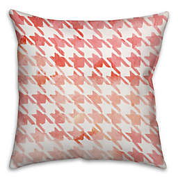 Watercolor Argyle 16-Inch Square Throw Pillow in Red