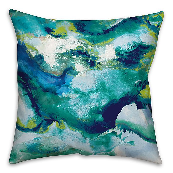 Alternate image 1 for Watercolor Brights 18-Inch Square Throw Pillow