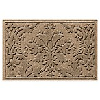 Weather Guard™ Damask 23-Inch x 35-Inch Door Mat in Khaki