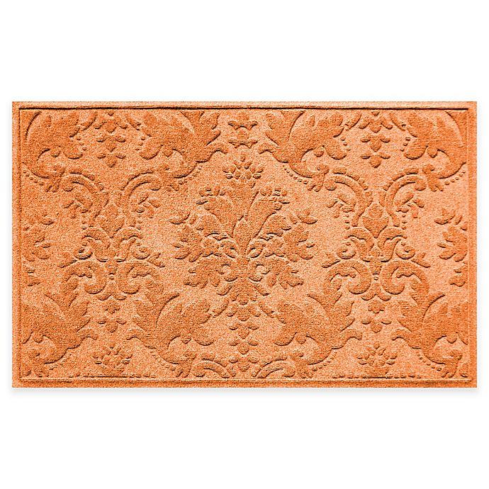 Alternate image 1 for Weather Guard™ Damask 34-Inch x 52-Inch Door Mat in Orange