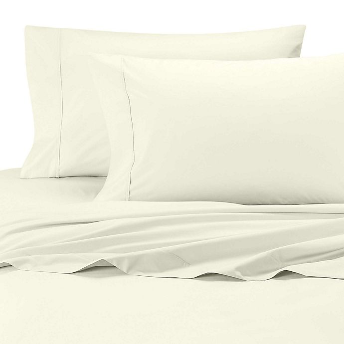 Alternate image 1 for SHEEX® Arctic Aire Tencel® Lyocell King Pillowcases in Ivory (Set of 2)