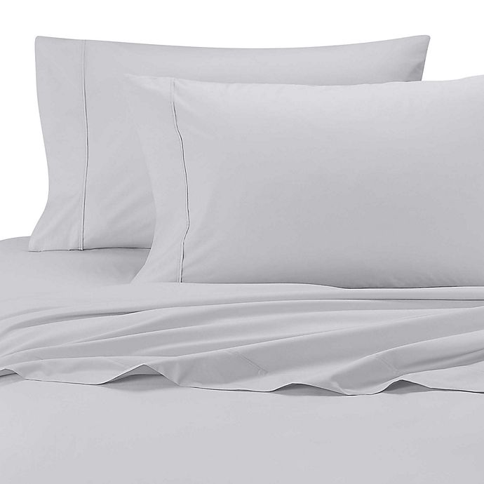 Alternate image 1 for SHEEX® Arctic Aire Tencel® Lyocell 300-Thread-Count King Pillowcases in Silver (Set of 2)