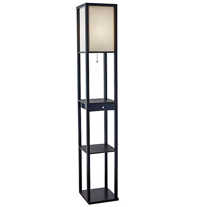 Alternate image 1 for Adesso® Etagere Floor Lamp with Drawer