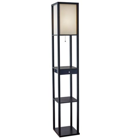 Floor Lamp With Drawer And Cfl Bulb, Floor Lamps With Shelf Canada