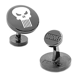 Marvel® Black-Plated The Punisher Cufflinks