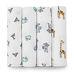aden + anais® Classic 4-Pack Muslin Swaddles in Jungle Jam