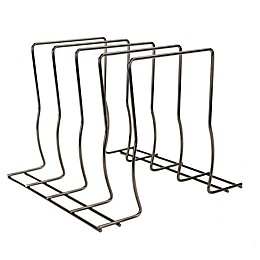 Home Basics® Wire Lid Rack Organizer in Onyx