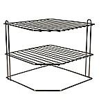 Home Basics® 3-Tier Corner Rack Wire Organizer in Onyx