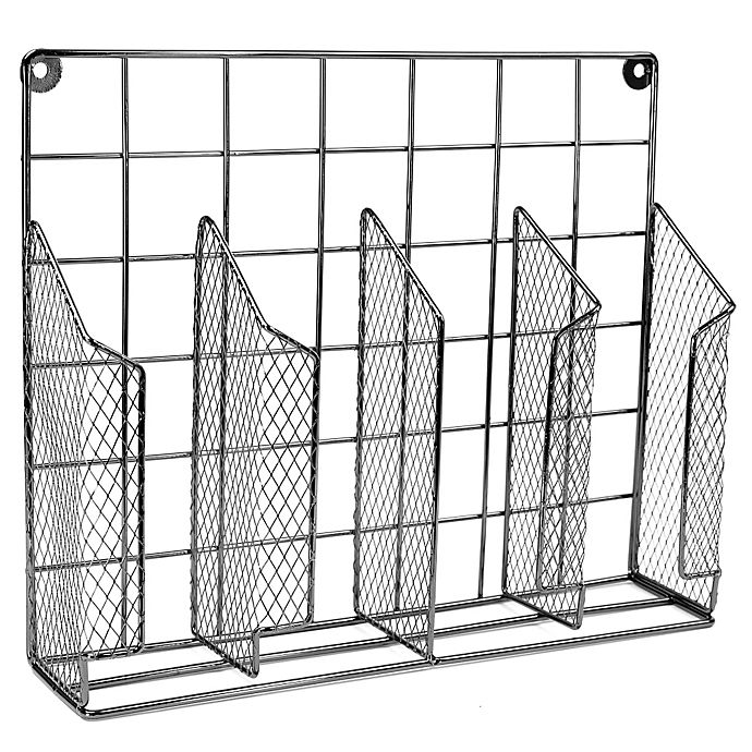 Buy Home Basics® Wire Food Wrap Organizer in Onyx from Bed