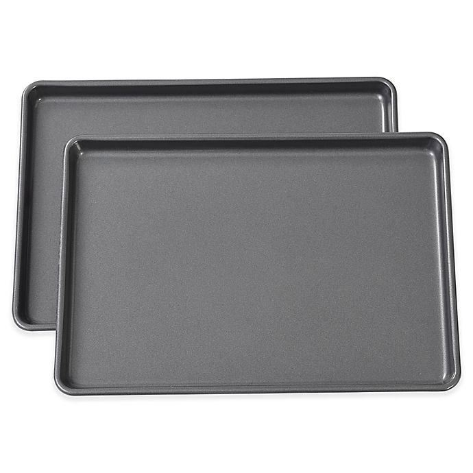 Alternate image 1 for Wilton® Easy Layers 13-Inch x 9-Inch Nonstick Jelly Roll Pans