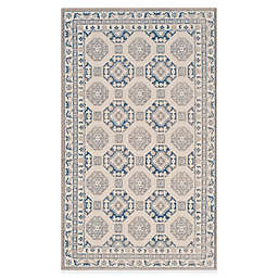 Safavieh Patina Tiles 4-Foot x 6-Foot Area Rug in Blue/Ivory