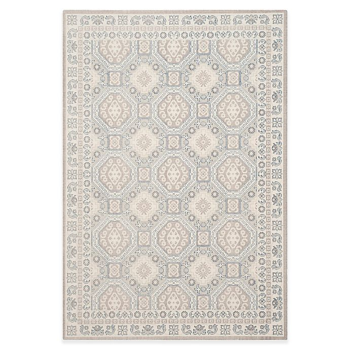 Alternate image 1 for Safavieh Patina Tiles 6-Foot 7-Inch x 9-Foot Area Rug in Ivory/Grey