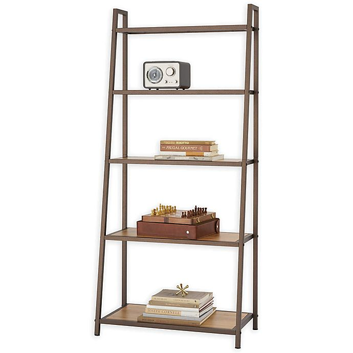 Alternate image 1 for Trinity Leaning Bamboo Rack in Bronze