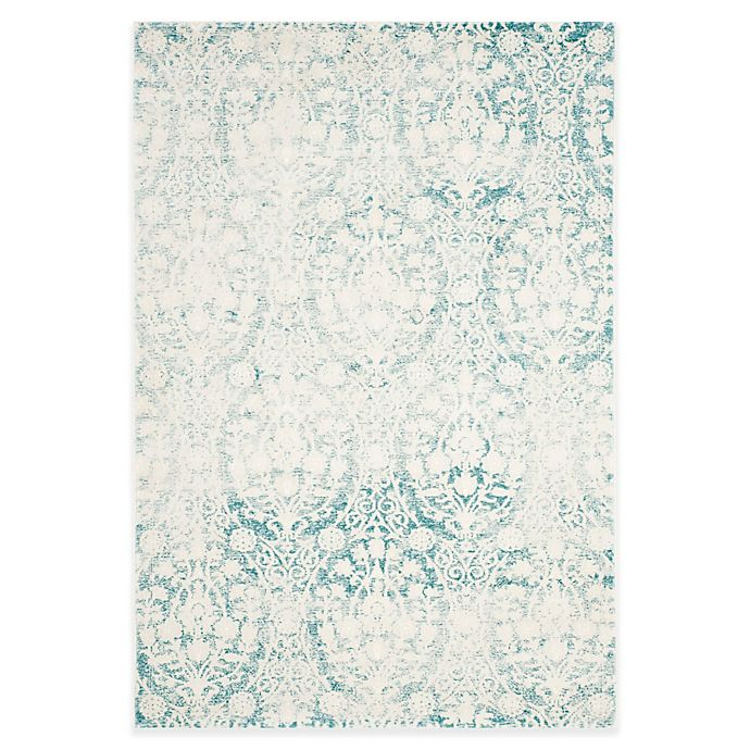 Alternate image 1 for Safavieh Passion Adriana 4-Foot x 5-Foot 7-Inch Area Rug in Ivory/Turquoise