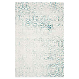 Safavieh Passion Adriana 6-Foot 7-Inch x 9-Foot 2-Inch Area Rug in Ivory/Turquoise