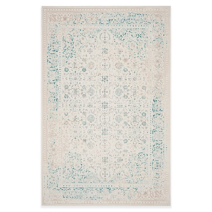 Alternate image 1 for Safavieh Passion Helen 5-Foot 1-Inch x 7-Foot 7-Inch Area Rug in Ivory/Turquoise