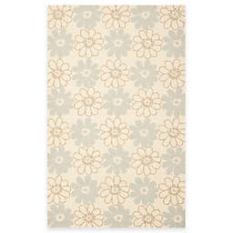 Safavieh Four Seasons Daisy 3-Foot 6-Inch x 5-Foot 6-Inch Area Rug in Blue/Ivory