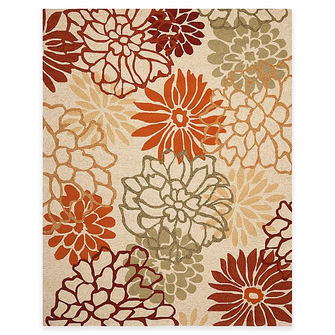 Alternate image 1 for Safavieh Four Seasons Burst Floral 8-Foot x 10-Foot Rug in Beige/Multi