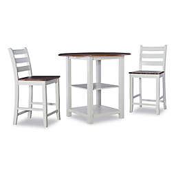 Powell Valin 3-Piece Counter Dining Set in White