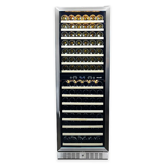 Alternate image 1 for NewAir® Premier Gold Series 160 Bottle Wine Cooler in Stainless Steel/Black
